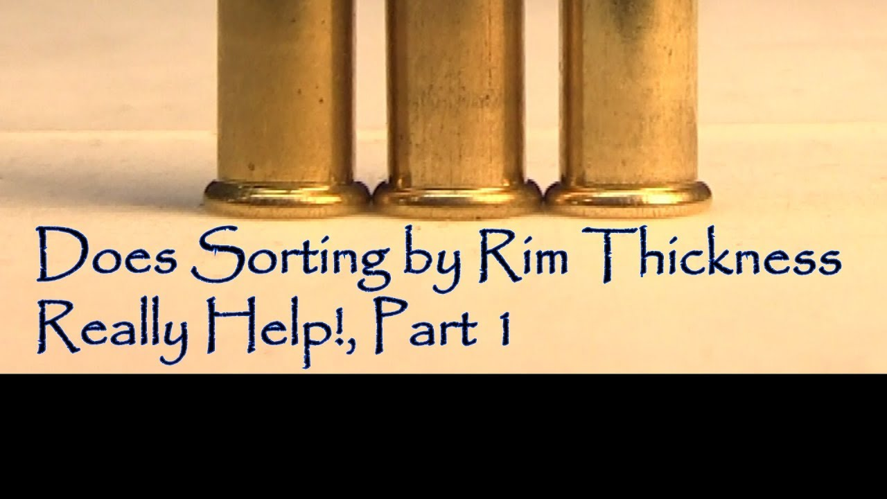 Garrow Development GFD 17HMR Upper Does Sorting By Rim Thickness Really Help Part 1