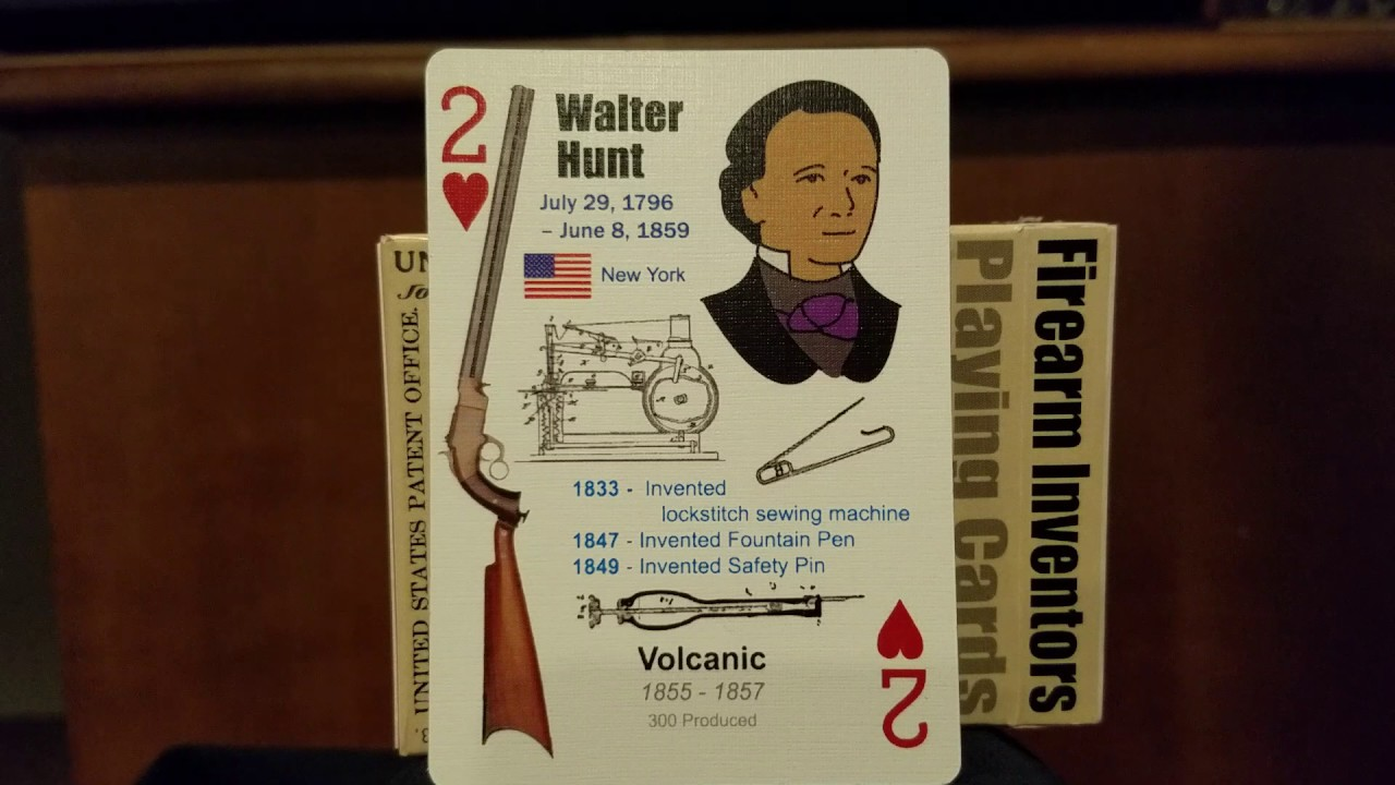 Walter Hunt.  Firearms Inventor's Playing Cards. #GEARWEBSITES. Thanks Squib.