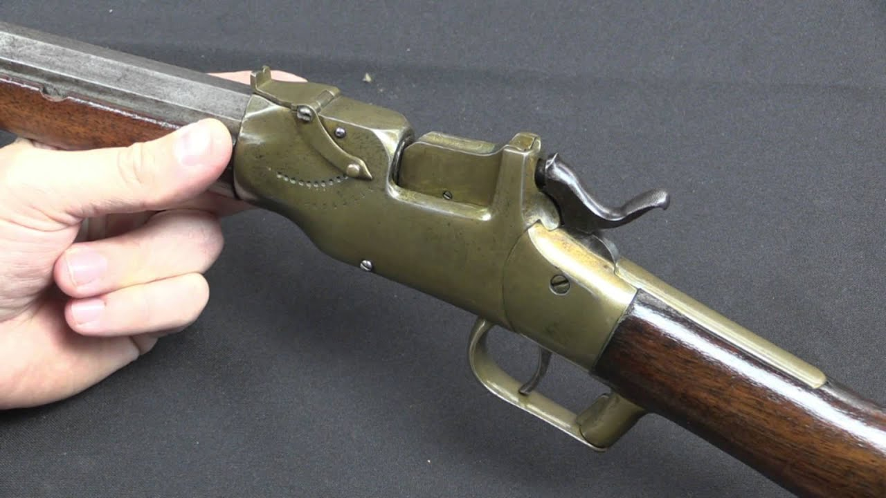 Ethan Allen Brass Falling Block Rifle