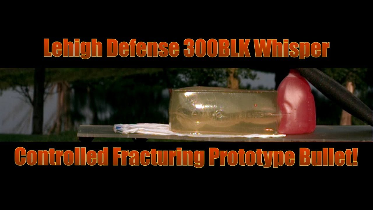 Lehigh Defense 300 Whisper Blackout Controlled Fracturing Subsonic Prototype Bullet 50 yard Accuracy