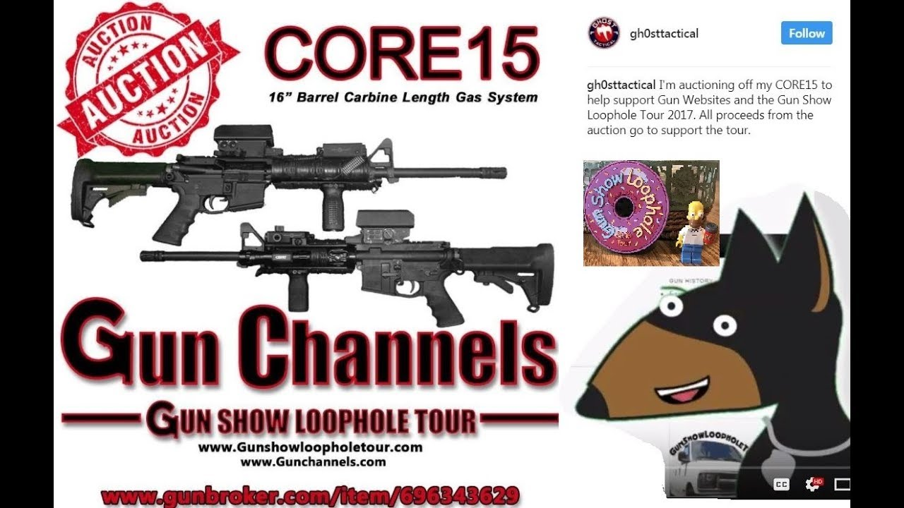 AR15 Auction to Support The Gun show Loop hole Tour!