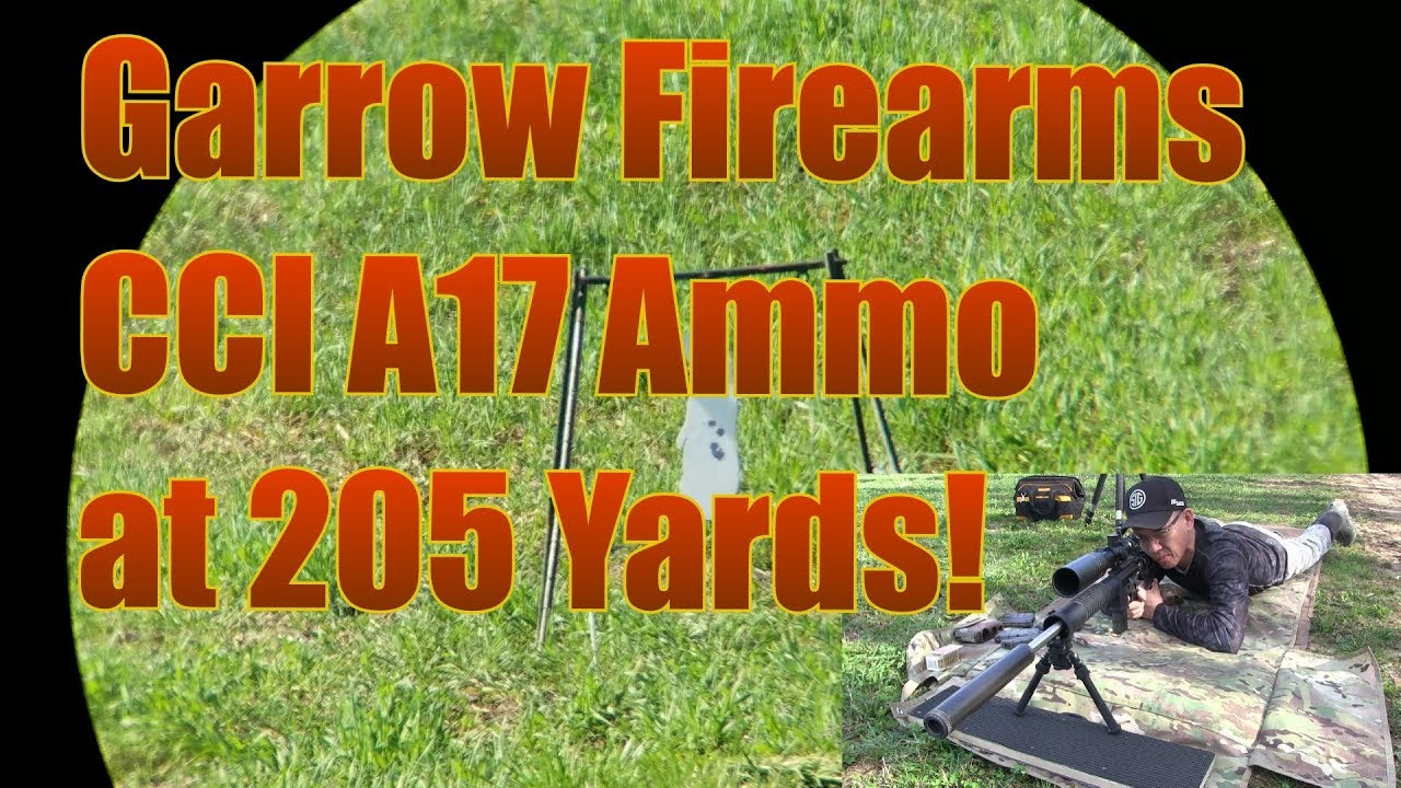 Garrow Firearms Development 17HMR Upper 205 Yard Tests CCI A17  Ammo