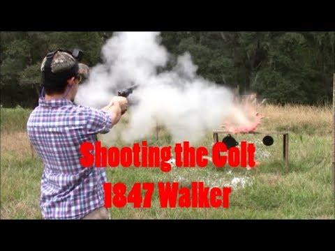 Shooting the Colt 1847 Walker Revolver Back From Goons Gun Works