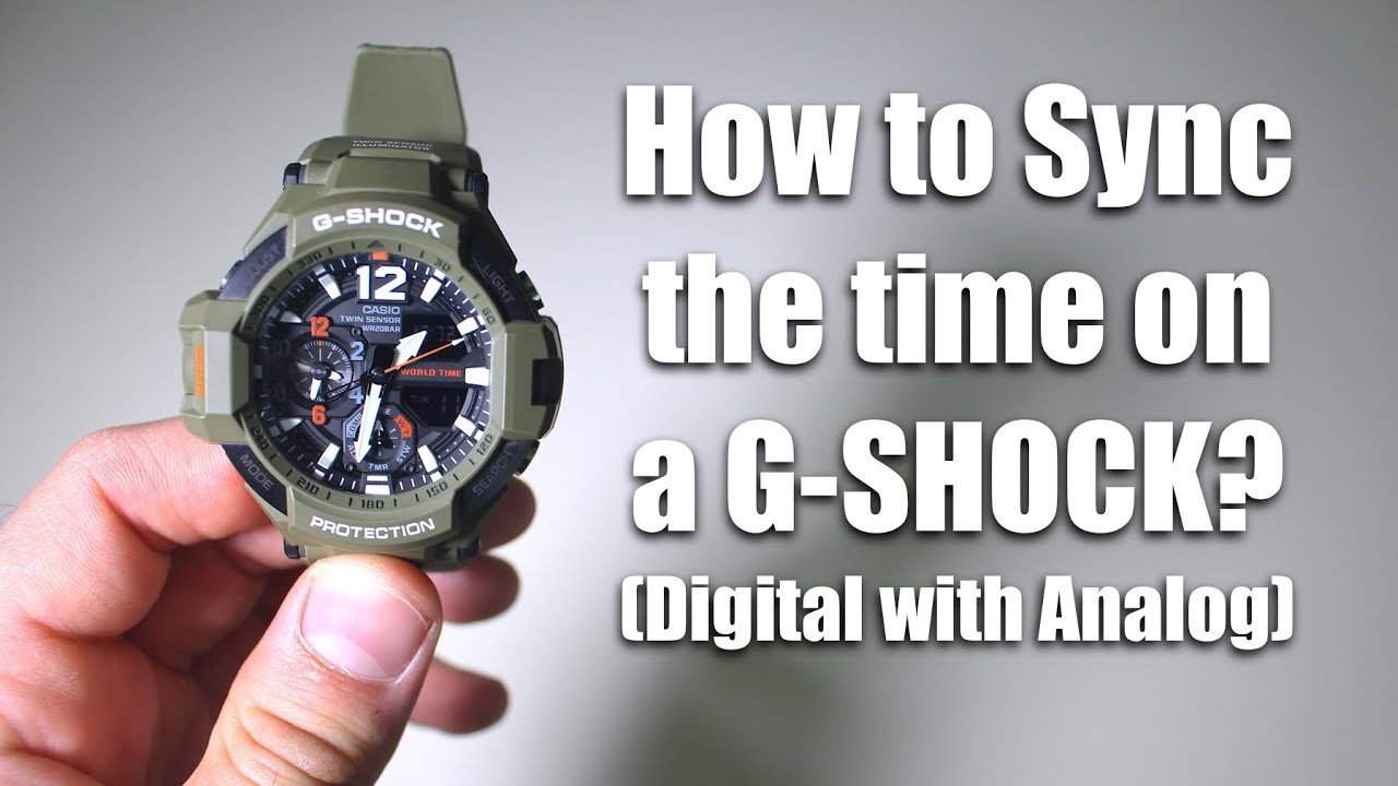 How to Sync Analog and Digital Time on a G-SHOCK
