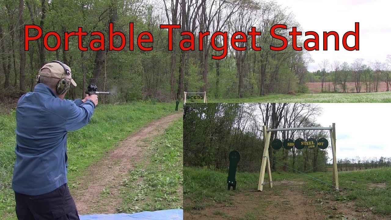 Glock 42 Tandemkross Buckmark 22 Shootsteel Portable Target Stand