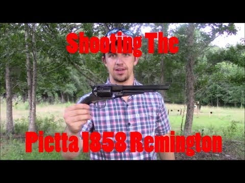 Shooting The Pietta 1858 .44 Remington Black Powder Revolver