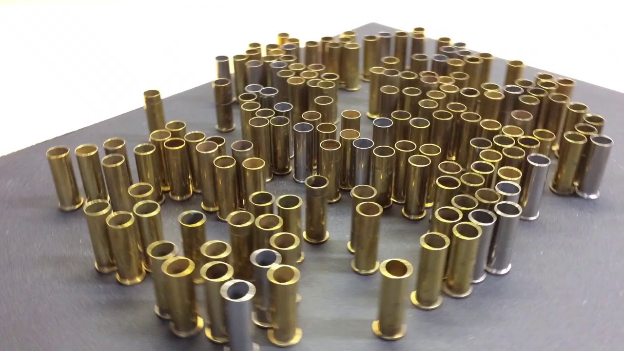 An easy way to check for splits in brass and sorting calibers. (for the reloaders network)