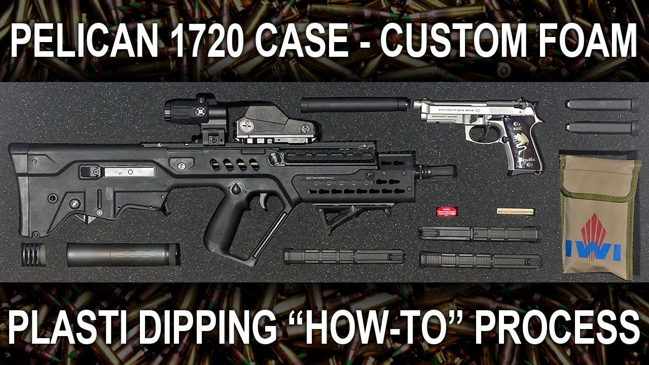 PART 2 - Plasti Dip Foam Tutorial for the Pelican 1720 Gun Case (How To PlastiDip & Hot Wire Cutter)