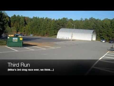 Camaro drag race versus Ford Fusion