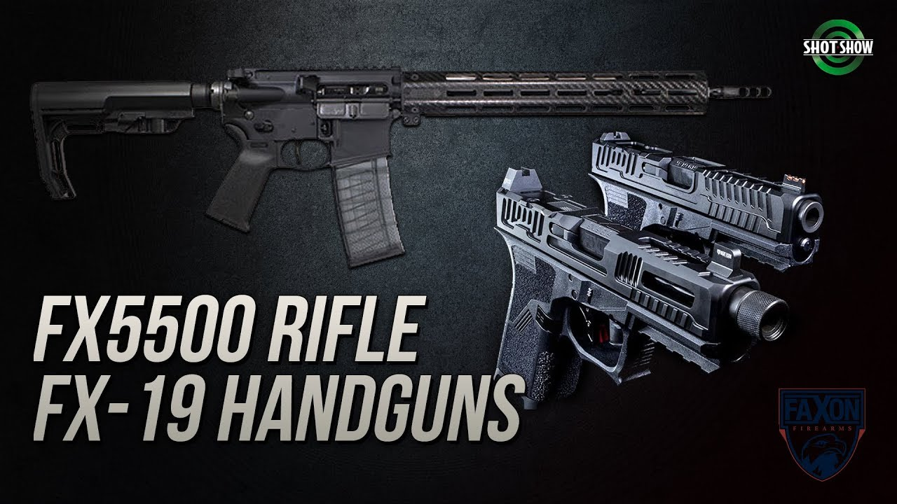 Faxon Firearms FX5500, FX-19 Patriot & Hellfire Handguns  - SHOT Show 2019