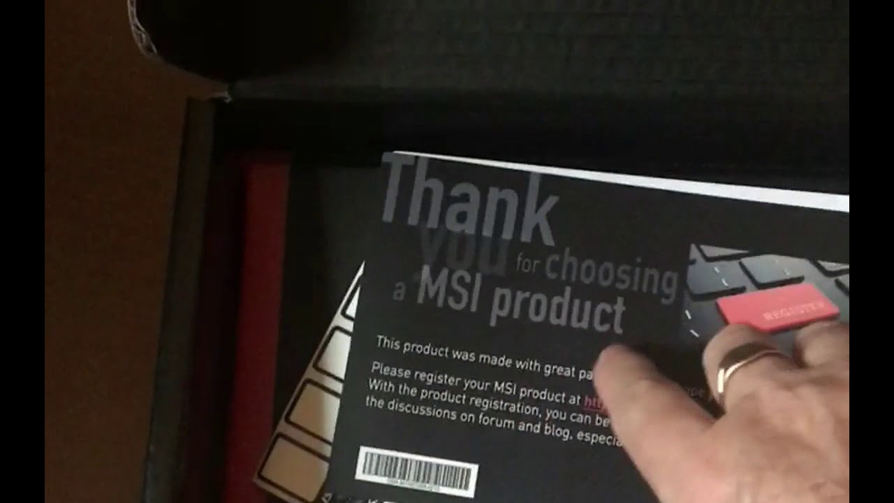 New computer unboxing