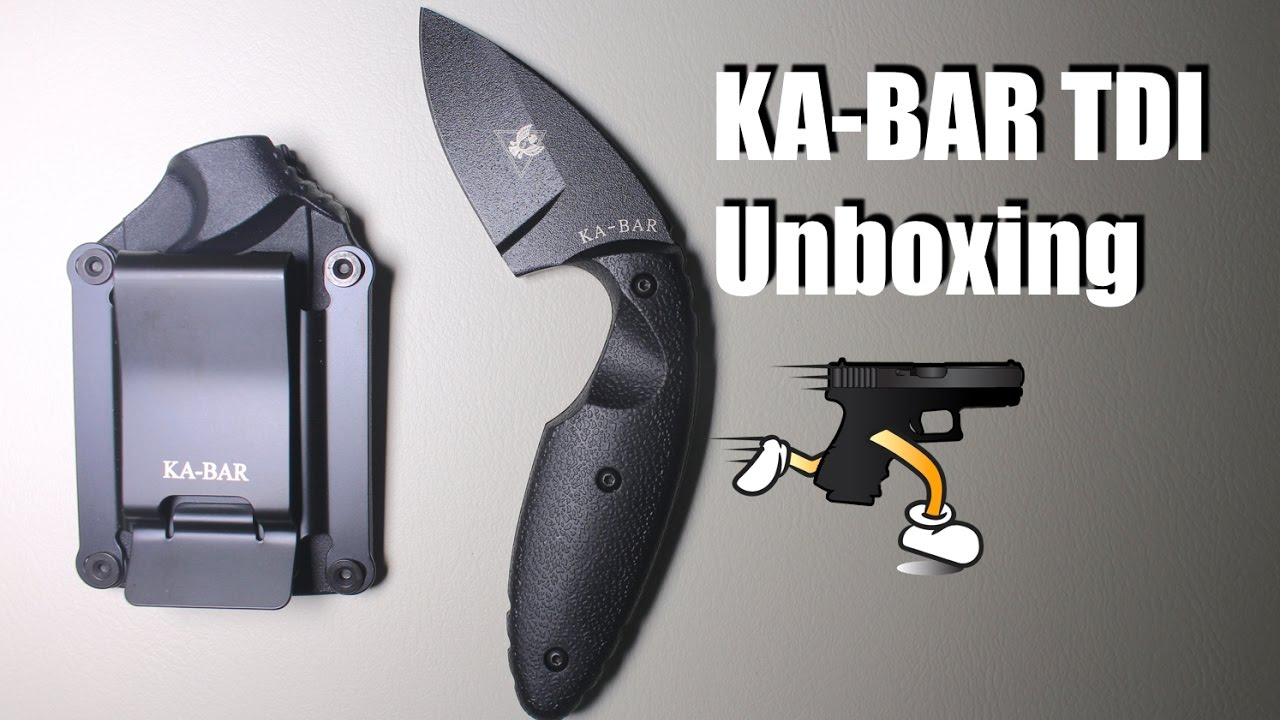 Kabar TDI Law Enforcement Fixed Blade Unboxing & Demonstation