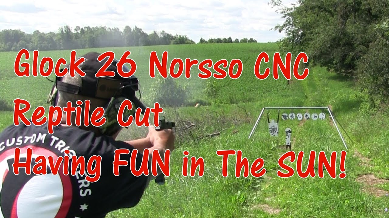 Glock 26 Norsso CNC Reptile Cut Vortex Venom 6 MOA Red Dot Having FUN in The SUN