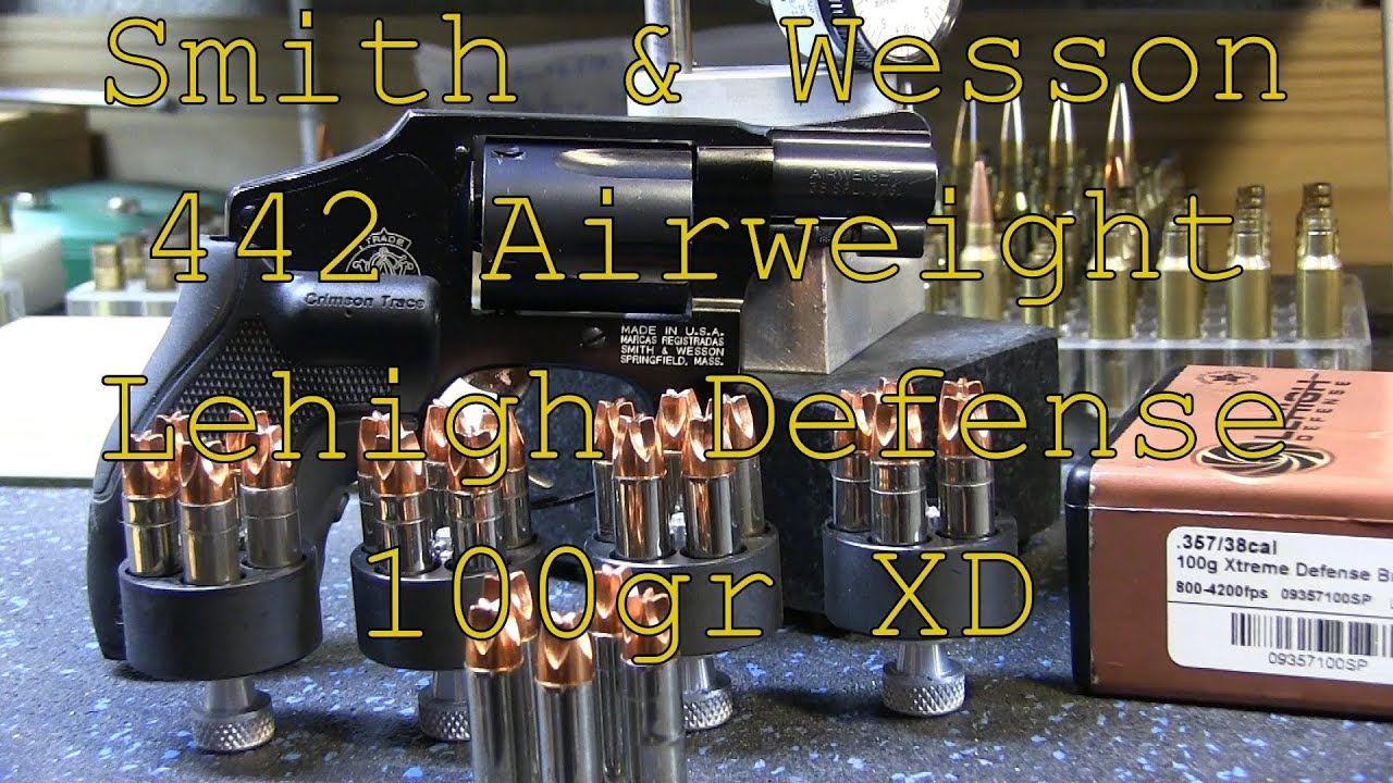 Reloading the Smith & Wesson Model 442 Airweight 38 Special Lehigh Defense 100gr Xtreme Defense Bull