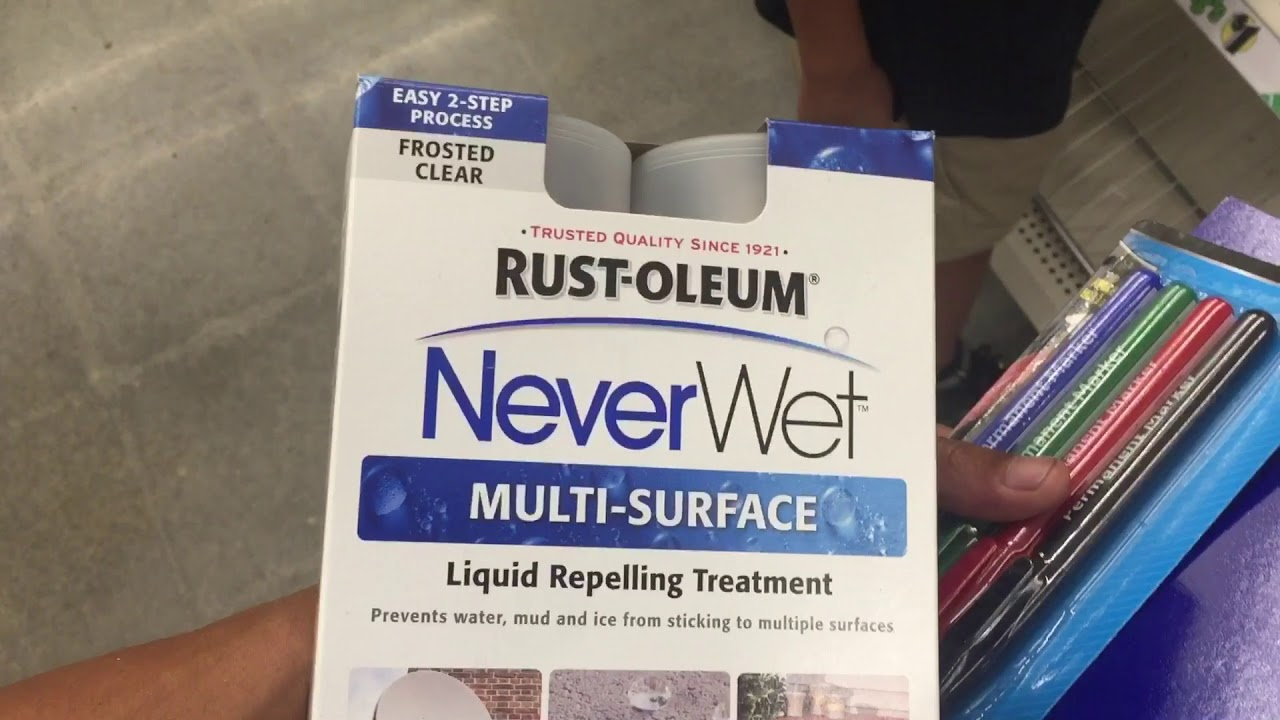 Rustoleum NeverWet at Dollar Tree for...you guessed it $1