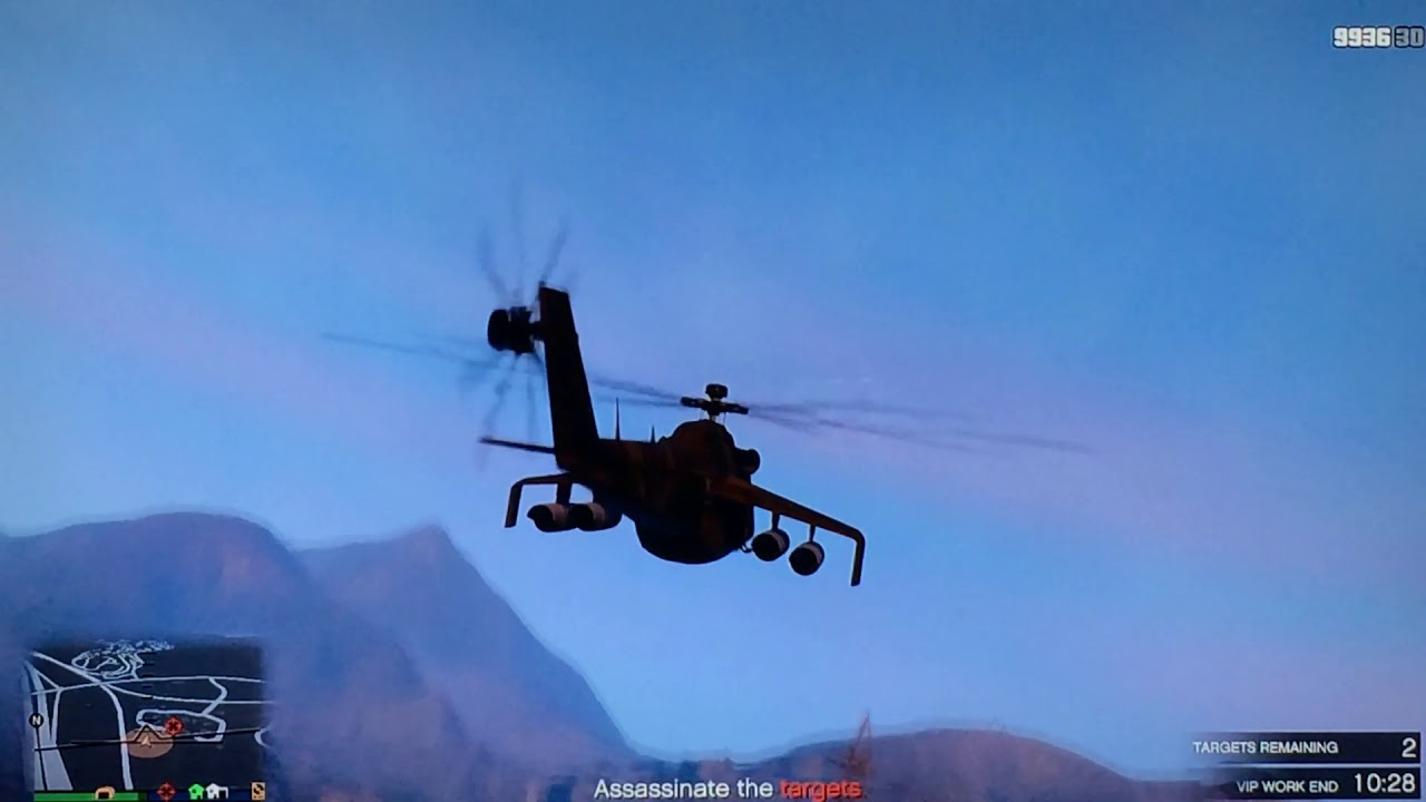 GTA V , Air mission 3 in Soviet Mi24 Hind Helicopter (Savage)