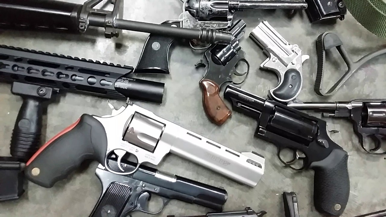 Gun collection beginning of 2017