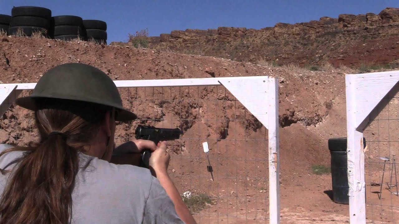An SMG And a Stocked Pistol at the 2015 Berry's Steel Open Match (InRange Trailer)