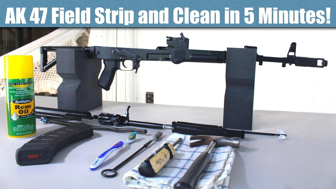 AK 47 Field Strip and Clean in 5 Muinutes!