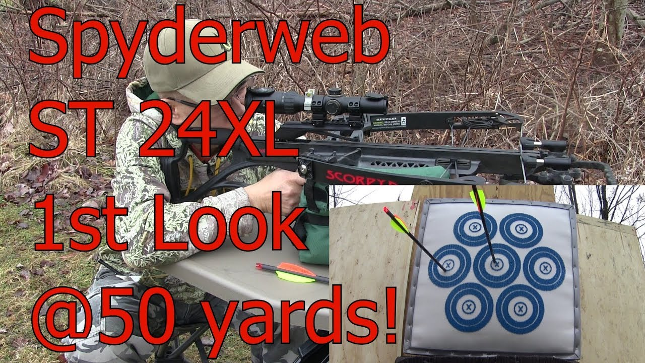 1st Look Syderweb Targets ST 24 XL Scorpyd DS Crossbow Double Tapp Nation Arrows