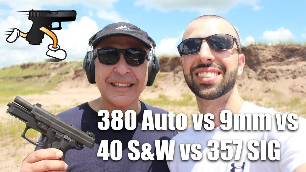 Caliber Comparison: 380 Auto, 9mm, 40 S&W, 357 SIG