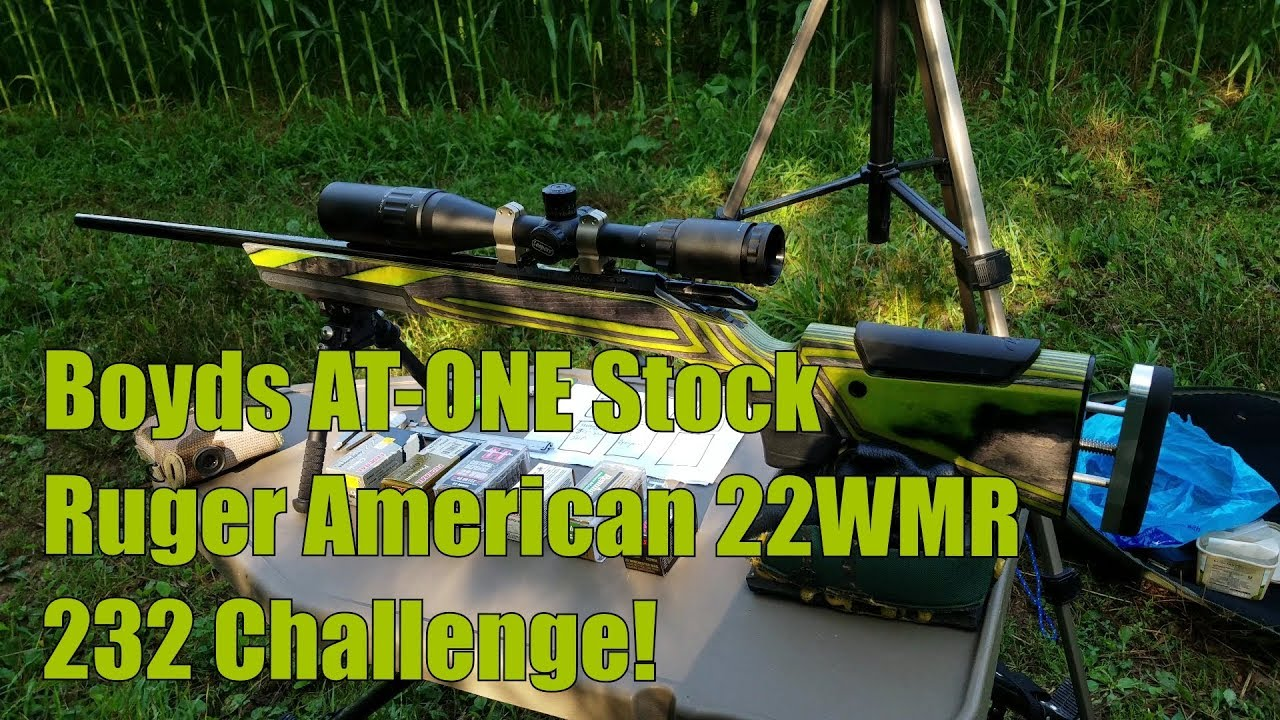 Boyds At ONE Stock Ruger American 22WMR 22Mag 232 yard Challenge! Sightmark Scope