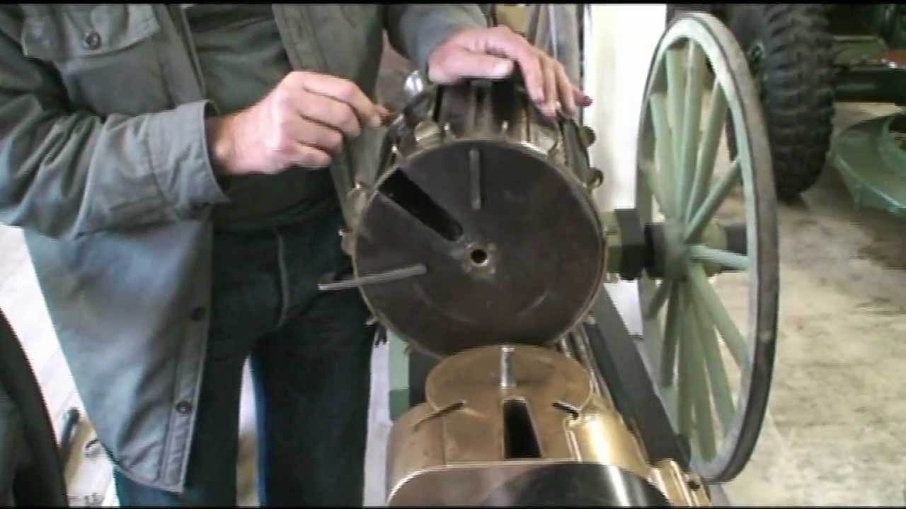 240-Round Broadwell Drum on a Gatling Gun