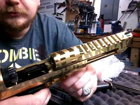 Desert Eagle 50AE  Gold Titanium tiger stripe