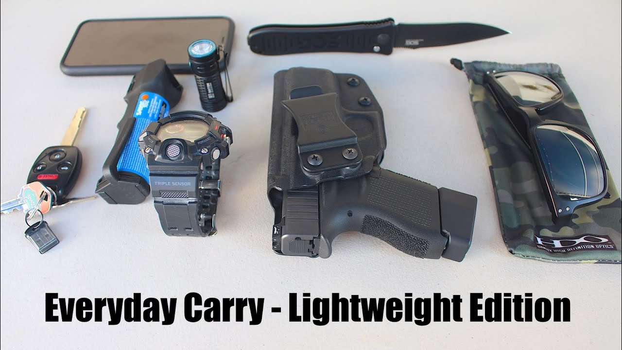 Everyday Carry - Lightweight Edition (Gun, Knife, Flashlight) | EDC