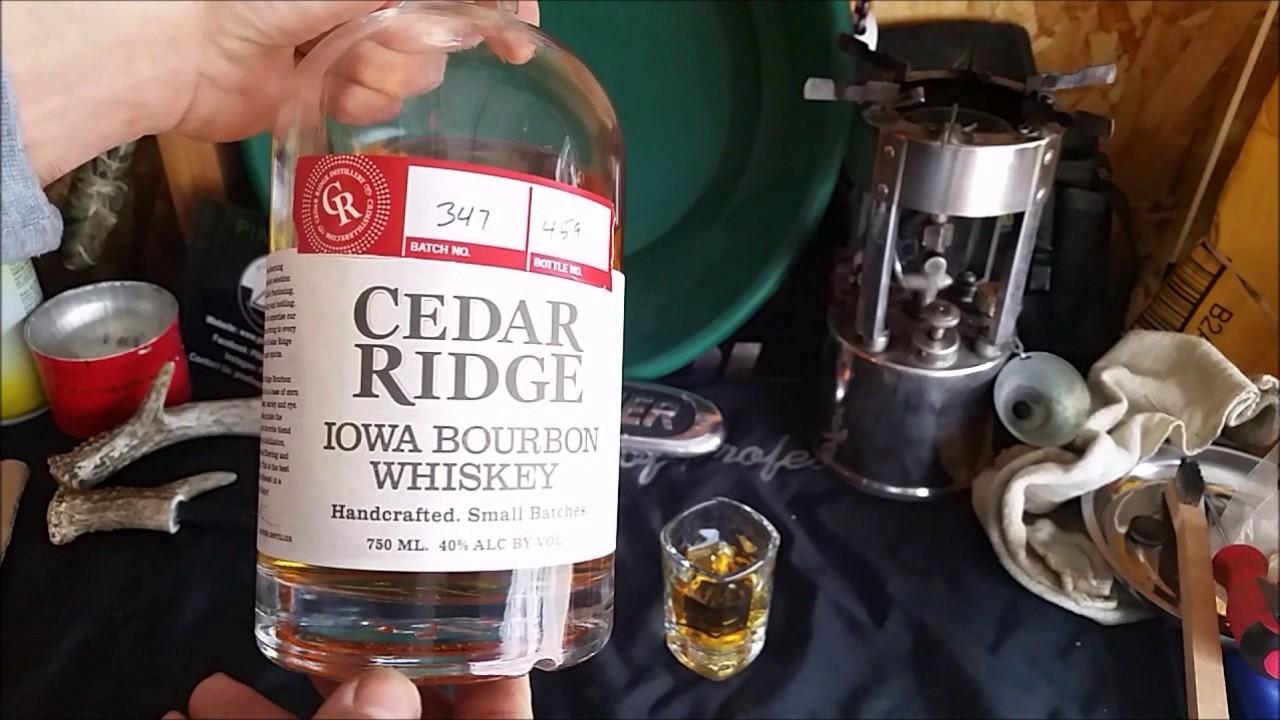 Cedar Ridge Iowa Bourbon Whiskey