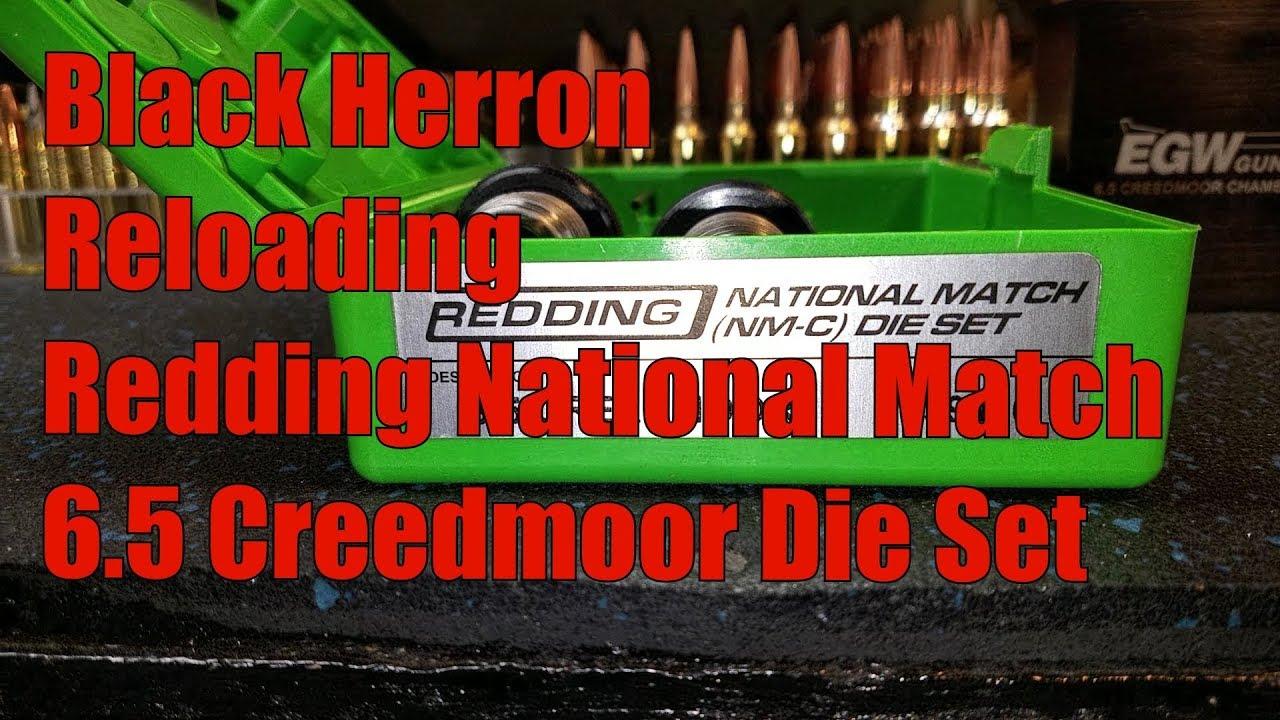 Black Herron Reloading Redding National Match Die Set 6.5 Creedmoor 1st Look
