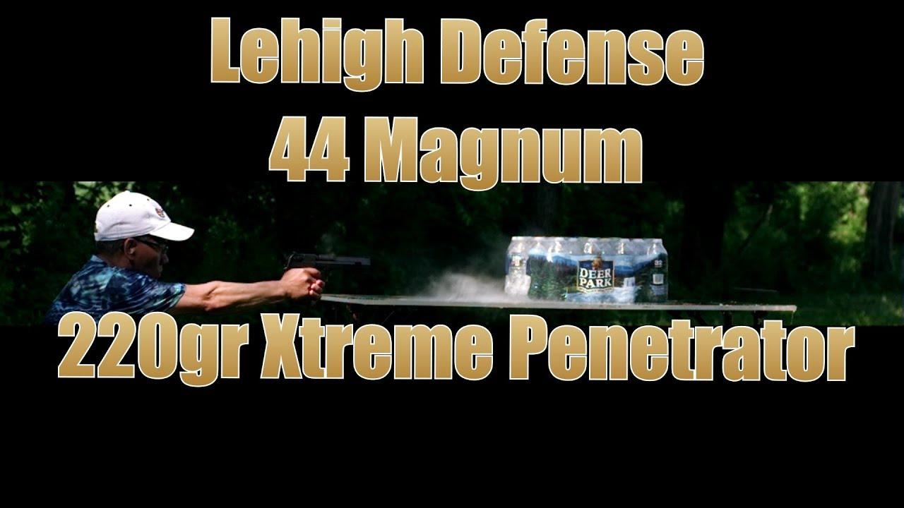 Lehigh Defense 44MAG 220gr Xtreme Penetrator Desert Eagle