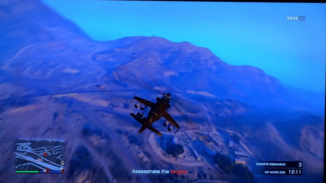 GTA V , Air mission 2 in Soviet Mi24 Hind Helicopter (Savage)