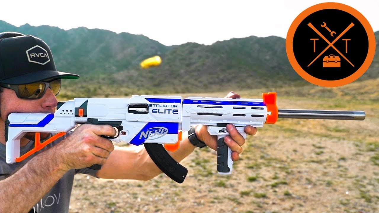 CRAZY NERF GUN Mods to Shoot REAL Bullets???