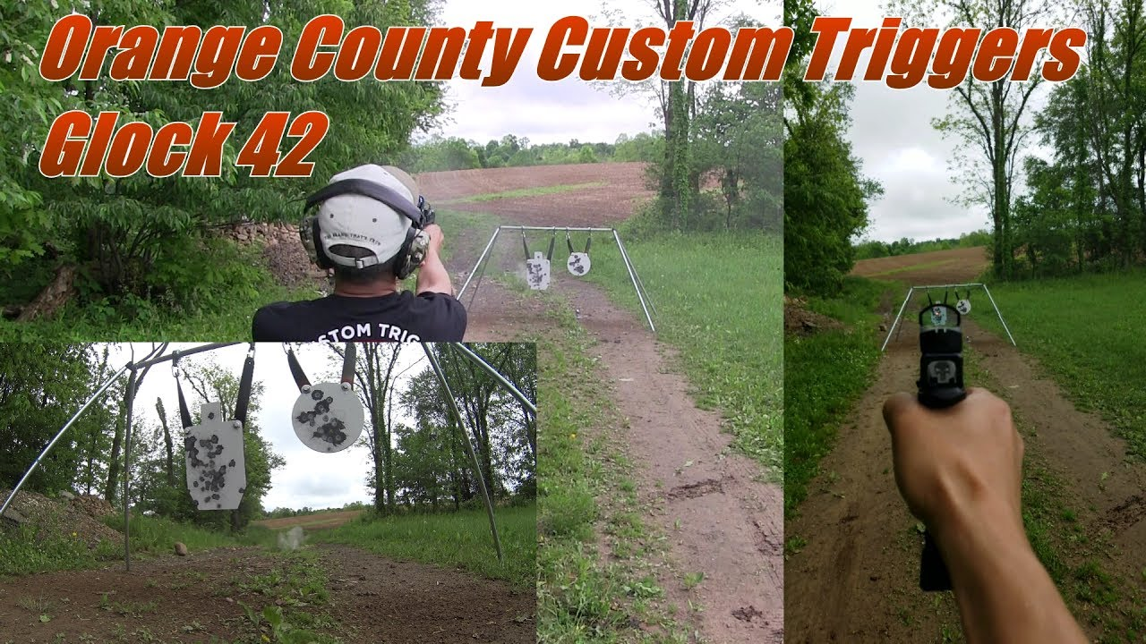 Orange County Custom Triggers Glock 42 1st Outdoors Test and Glock 26 Vortex Venom Red Dot