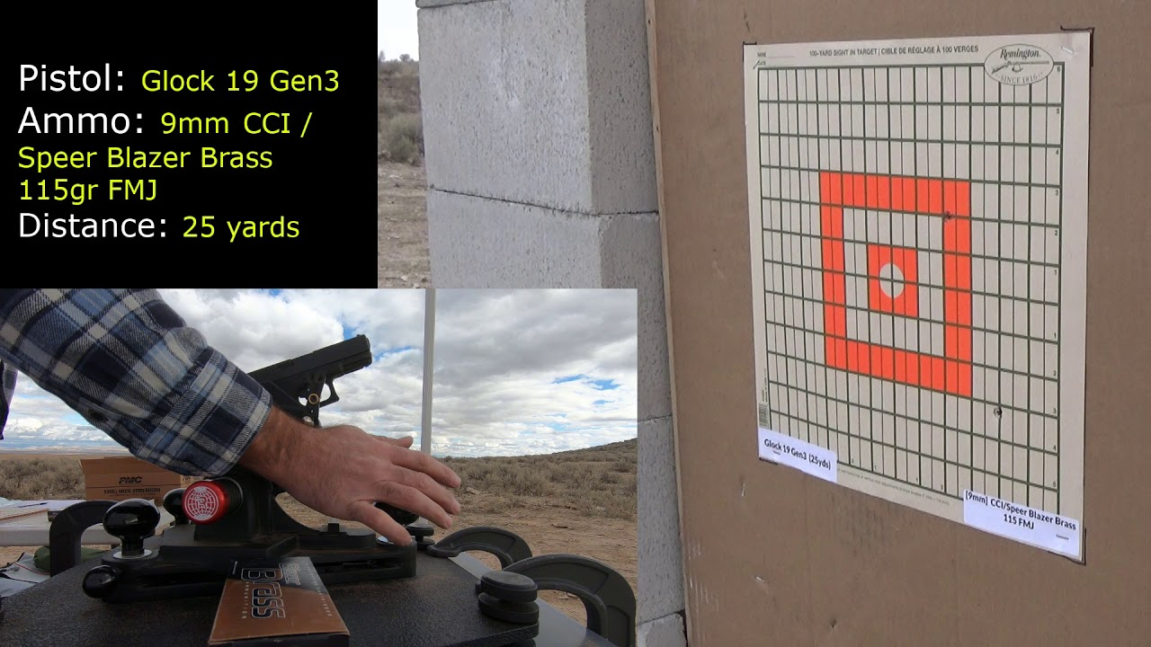 ACCURACY TEST: Glock 19 Gen 3 with CCI Speer Blazer Brass 115gr FMJ