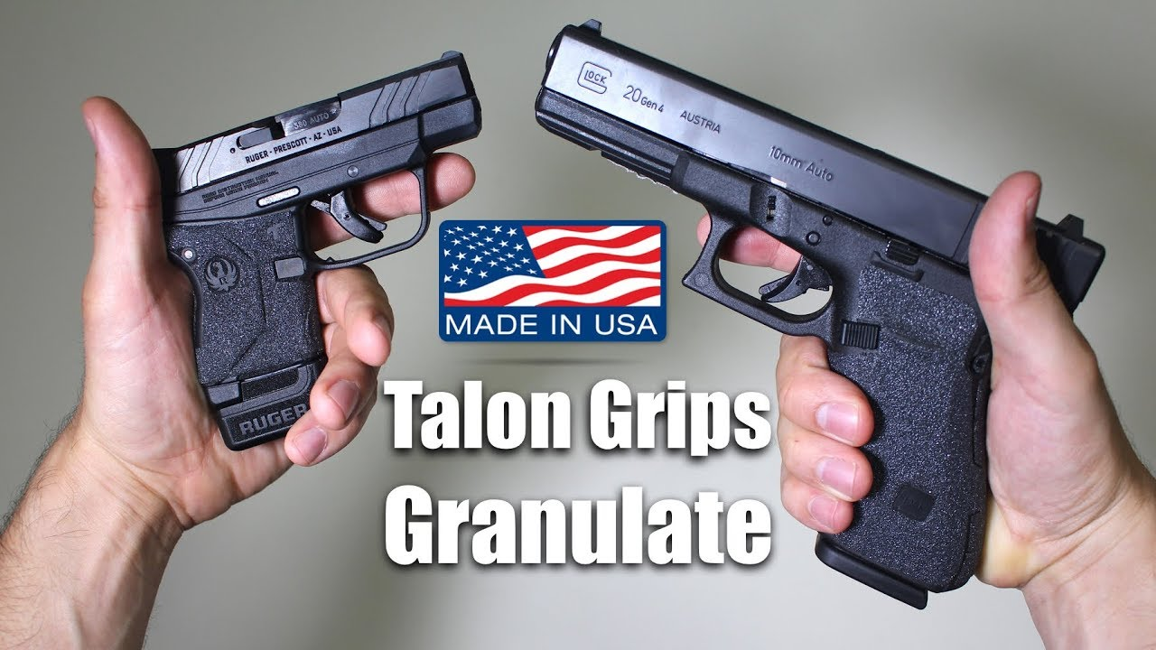 Talon Grips Granulate Too Rough? Glock 20 + LCP 2 Test