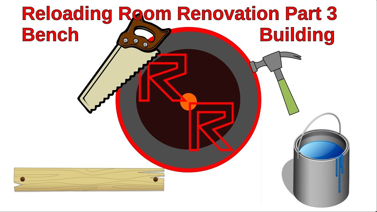 Reloading Gun Room Renovation Part 3 Bench Building