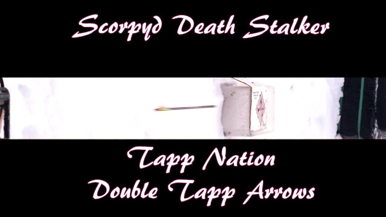 Scorpyd DS Crossbow Test #5 Slo Mo High Speed Video Double Tapp Arrows