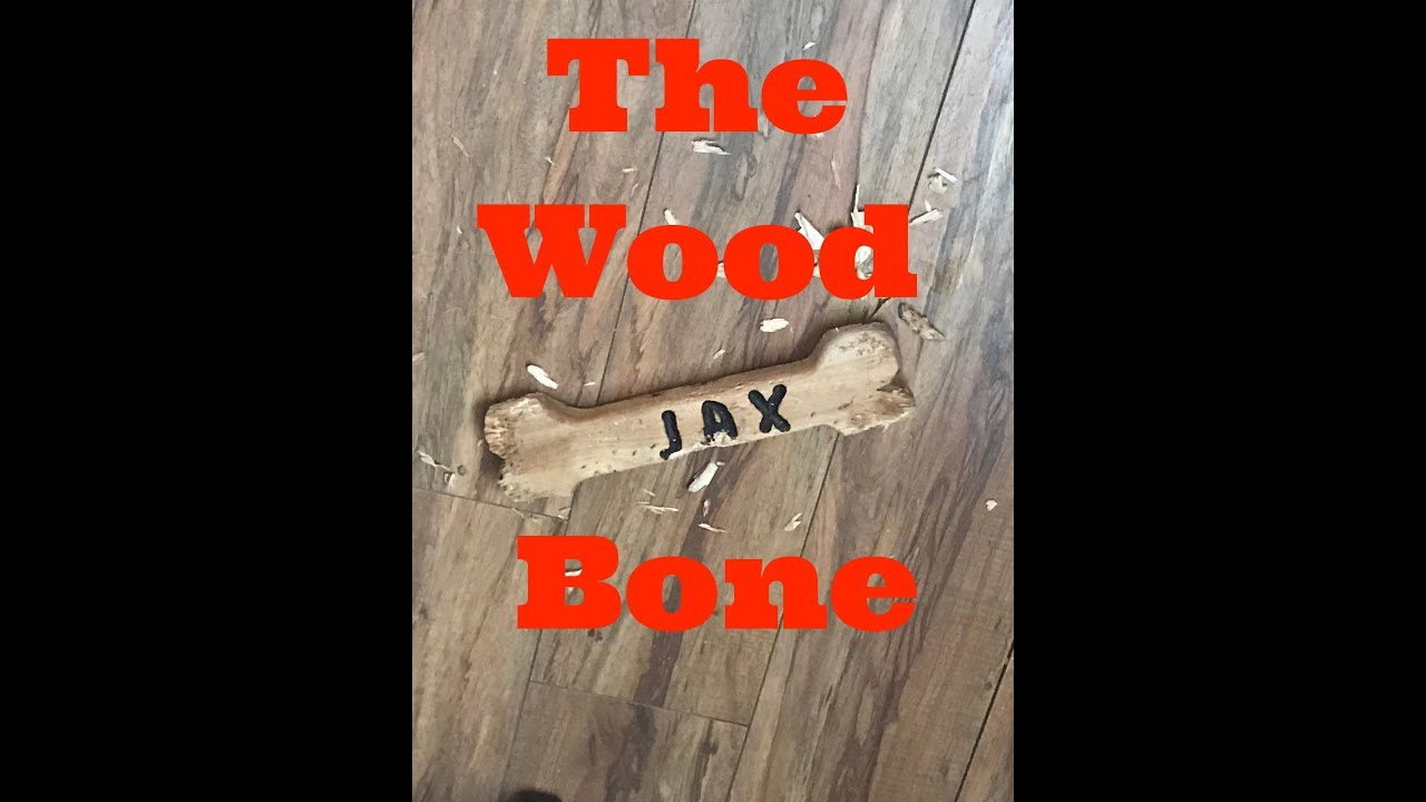 Pine Wood Dog Bone for Jax!  Littlewierdshop