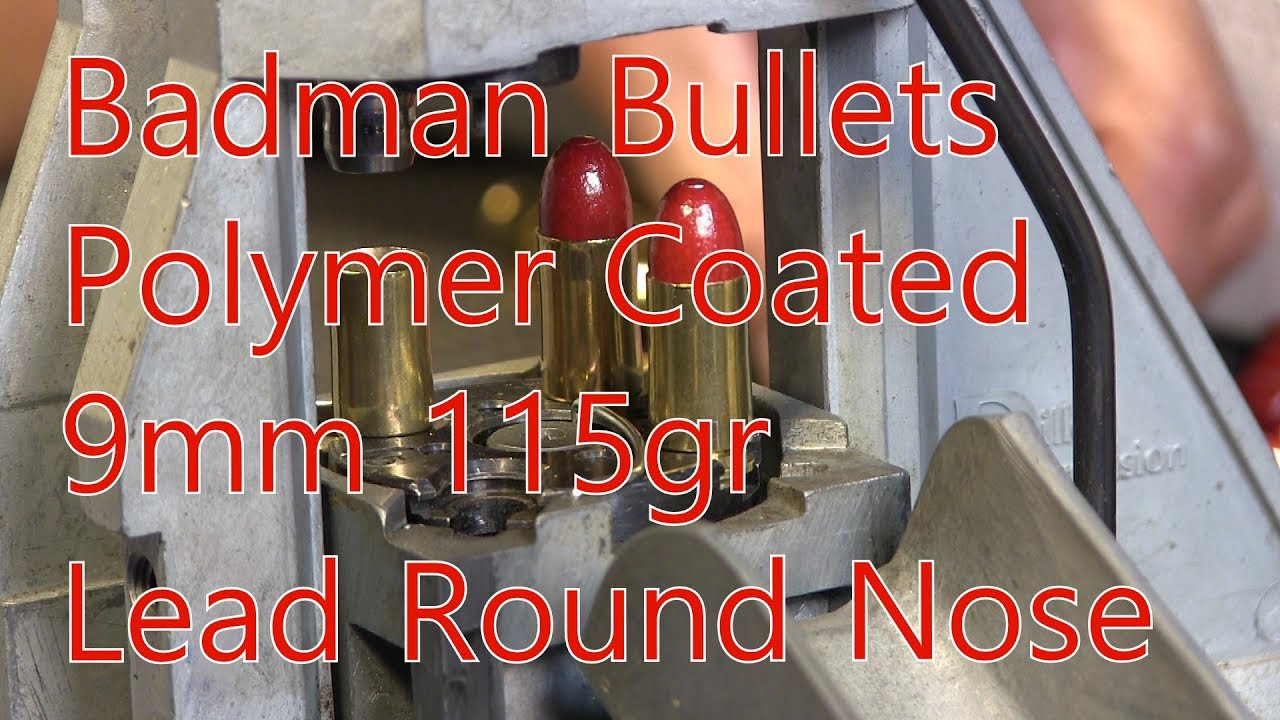 Badman Polymer Coated 9mm 115gr Lead Round Nose Glock 26