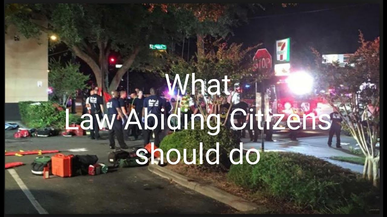 What the good guys (law abiding citizens) should do