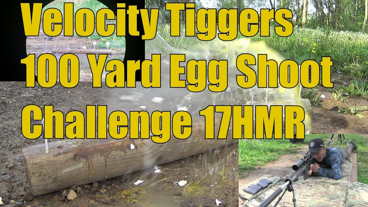 Velocity Triggers 100 Yard 17HMR Egg Shoot Challenge Garrow Firearms Upper