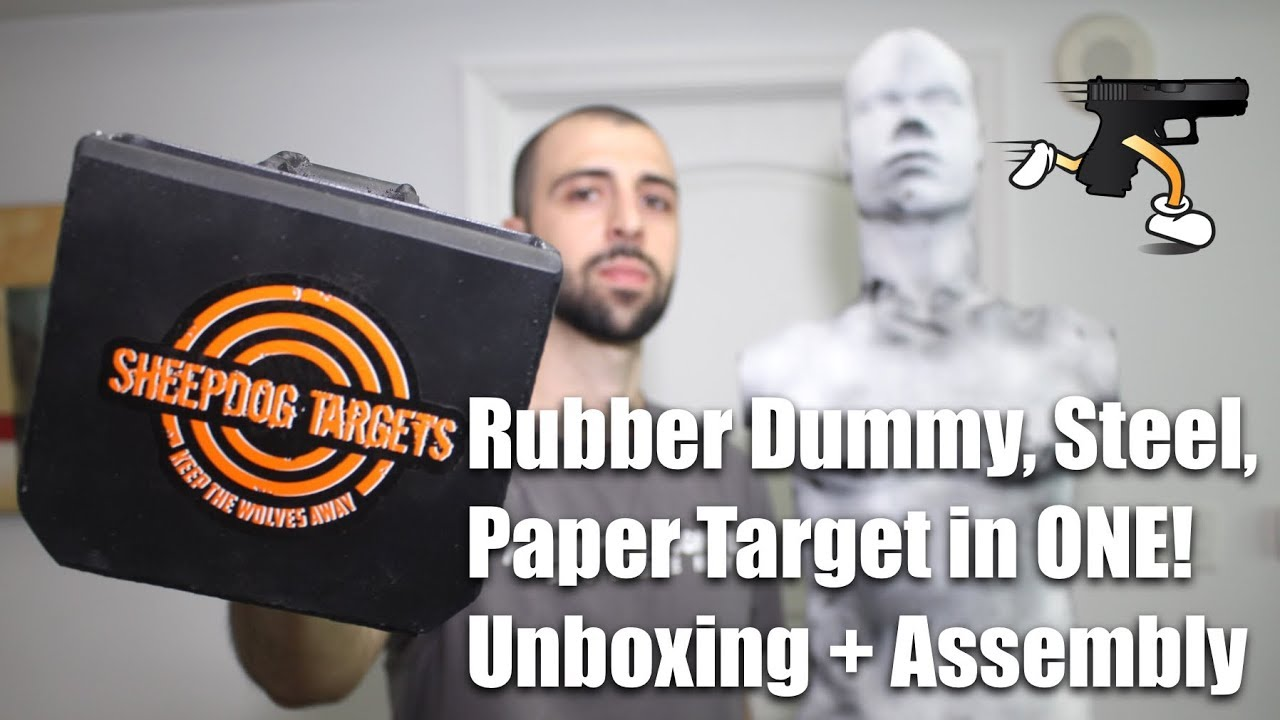 Sheepdog Targets Unboxing + Assembly (Rubber Dummies, Steel, Paper Target in ONE!)
