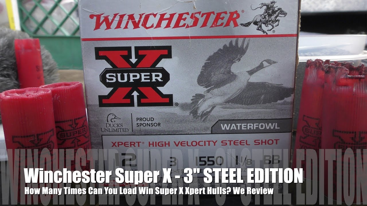 How Many Times Can You Load Winchester XPERT 3 inch STEEL Hulls ? - WATERFOWL EDITION!