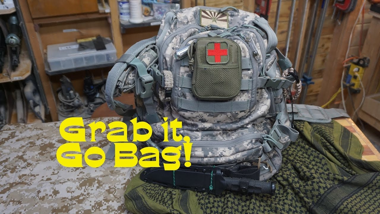 My Go Bag or Grab bag, contents review