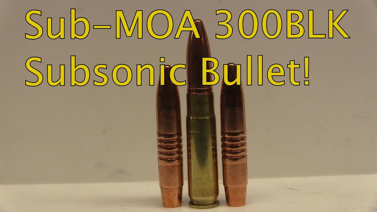 Lehigh Defense 300BLK 226gr Monolithic Solid Copper Subsonic 207 Yard Tests