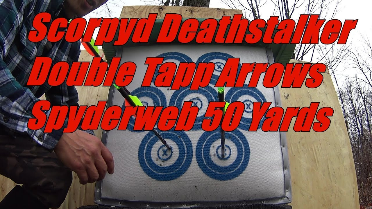 Scorpyd DS Crossbow Double Tapp Nation Arrows 50 Yards, Test #2