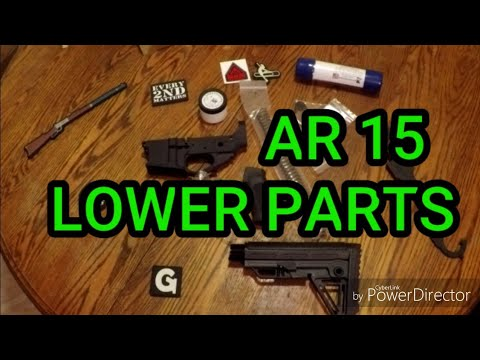 AR 15 Project Lower Parts and Tools