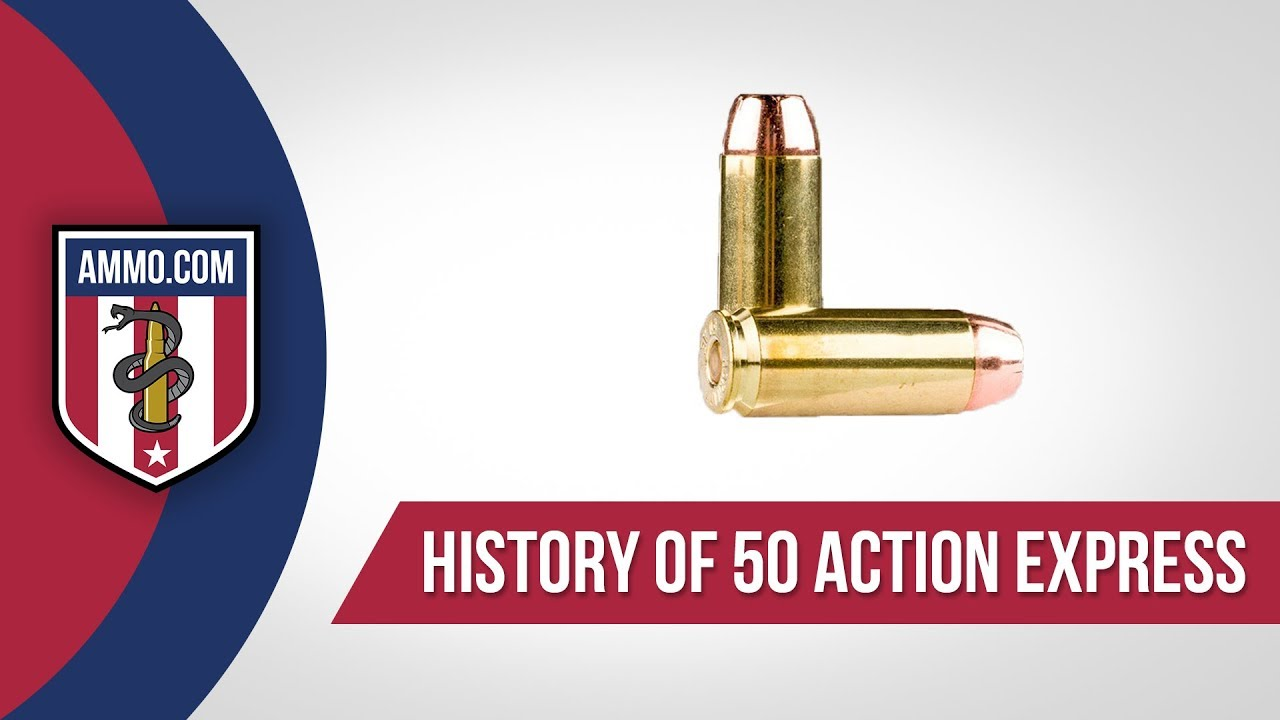 50 Action Express Ammo - History